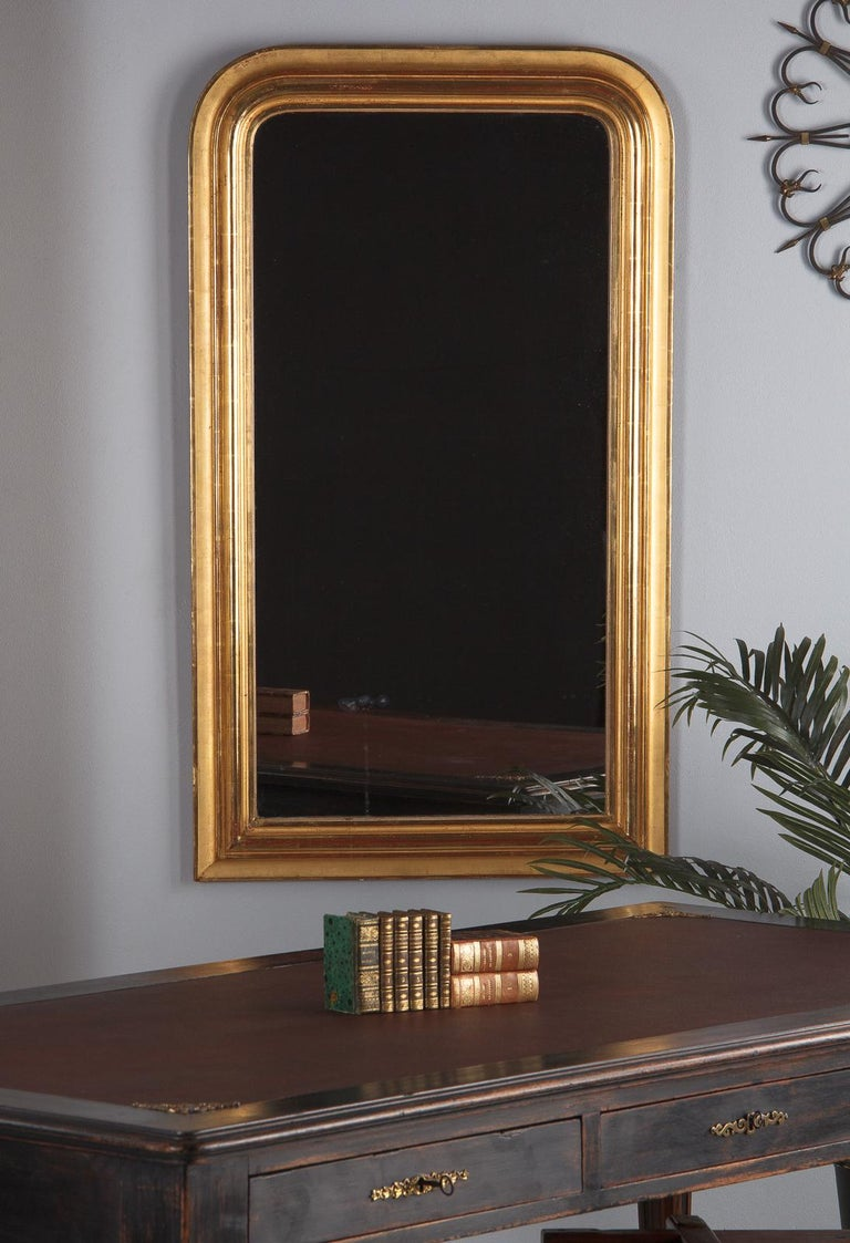 French Louis Philippe Gold Leaf Mirror Mid 1800s For Sale