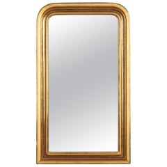 French Louis Philippe Gold Leaf Mirror, Mid-1800s