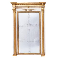 French Louis Philippe Neoclassical Parcel-Gilt Overmantel Mirror, circa 1850
