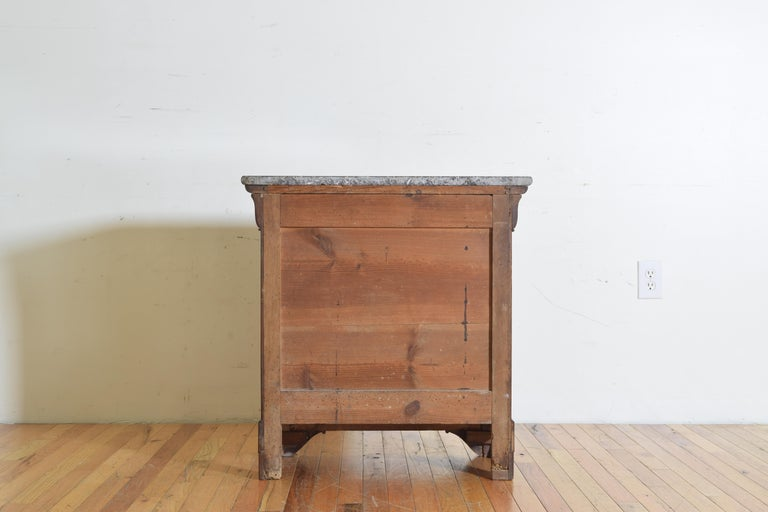 French Louis Philippe Petite Walnut & Marble Top 5-Drawer Commode, circa 1840 7