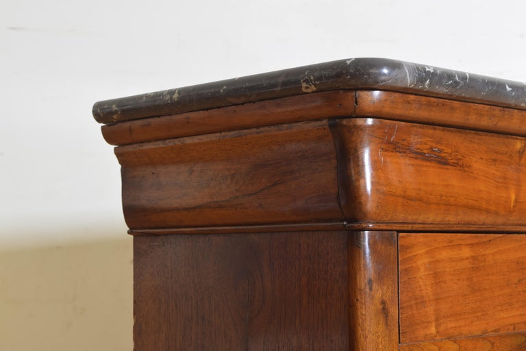 French Louis Philippe Petite Walnut & Marble Top 5-Drawer Commode, circa 1840 2