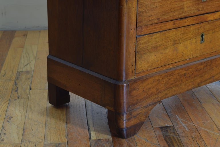 French Louis Philippe Petite Walnut & Marble Top 5-Drawer Commode, circa 1840 5