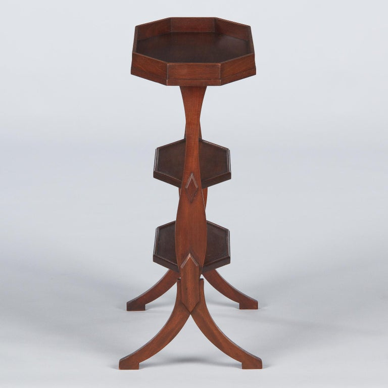 French Louis Philippe Seamstress Working Table in Walnut, Early 1900s For Sale 9