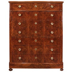 French Louis Philippe Style Mid-19th Century Secretary in Crouch Mahogany