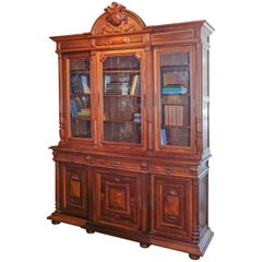 French Louis Philippe Style Bookcase 19th Century Walnut