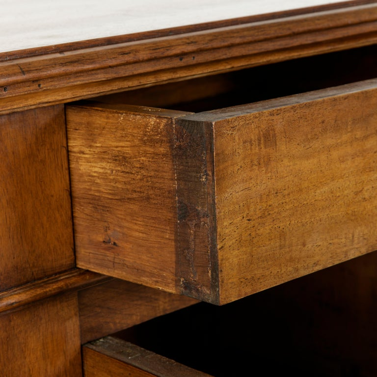 French Louis Philippe Walnut Buffet d'Appui, Server or Sideboard, circa 1900 For Sale 10