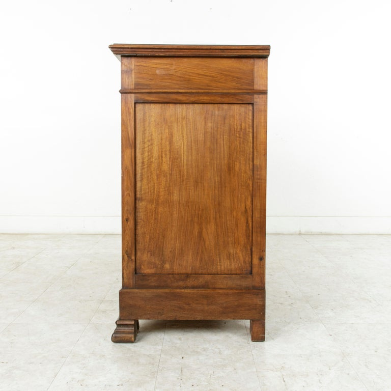 Early 20th Century French Louis Philippe Walnut Buffet d'Appui, Server or Sideboard, circa 1900 For Sale