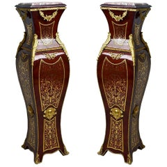 French Louis Style Boulle Pedestal '2 Set', 20th Century