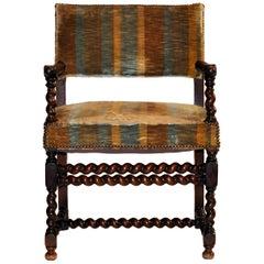 French Louis XIII Barley Twist Side Chair