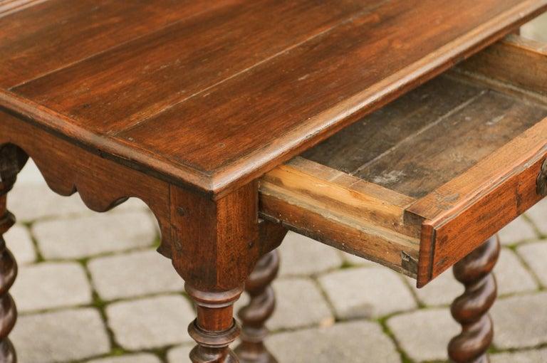 Französischer Louis Xiii Stil 1870er Jahre Walnuss Tisch Mit Barley