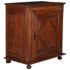French Louis XIII Style Confiturier Cabinet in Walnut, 19th Century