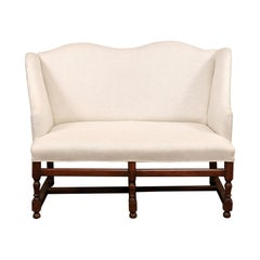 French Louis XIII Style Walnut Settee, 18th Century