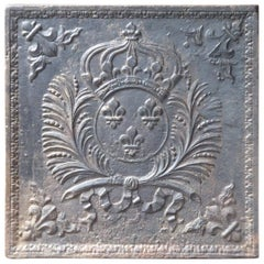 French Louis XIV 'Arms of France' Fireback, 17th-18th Century
