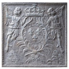 French Louis XIV 'Arms of France' Fireback, 17th Century