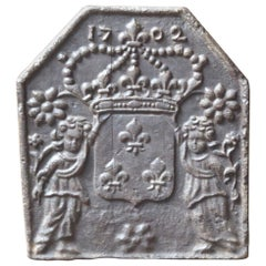 French Louis XIV 'Arms of France' Fireback, 18th Century