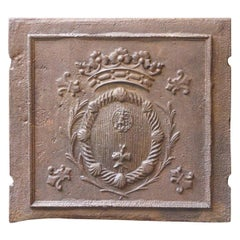 French Louis XIV 'Coat of Arms' Fireback, 17th-18th Century