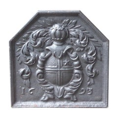 French Louis XIV 'Coat of Arms' Fireback, 17th Century
