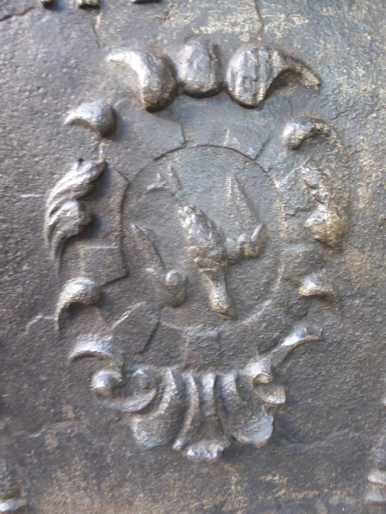 French Louis XIV 'Coat of Arms' Fireback, 18th Century For Sale 2