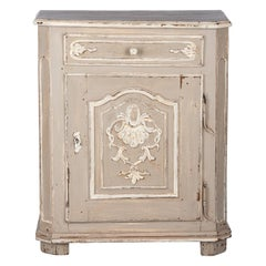 French Louis XIV Painted Oak Confiturier Cabinet, 18th Century
