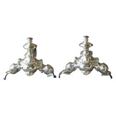 French Louis XIV Period Andirons or Firedogs, 17th Century