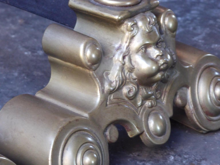 French Louis XIV Style Andirons or Firedogs For Sale 3