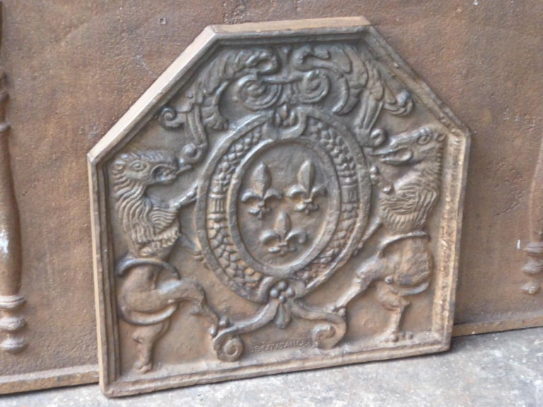 Cast French Louis XIV Style 'Arms of France' Fireback