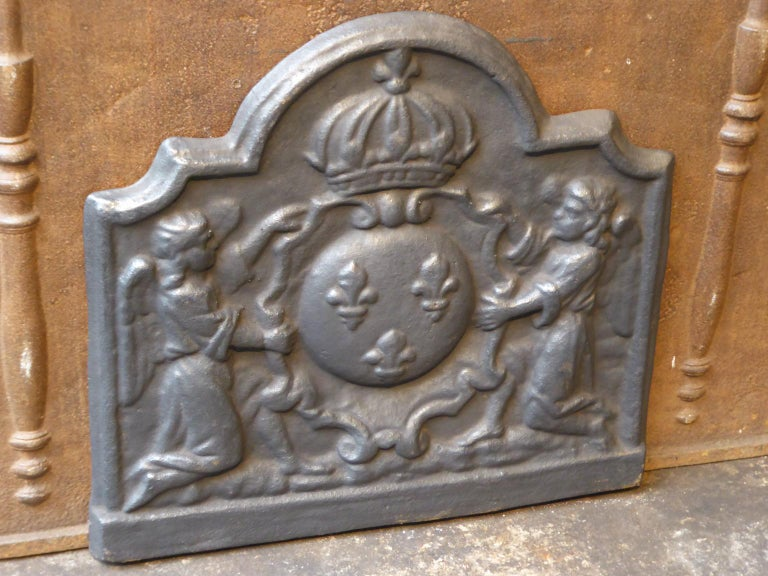 French Louis XIV Style 'Arms of France' Fireback In Good Condition For Sale In Amerongen, NL