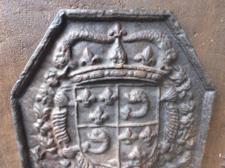20th Century French Louis XIV Style 'Arms of France' Fireback For Sale