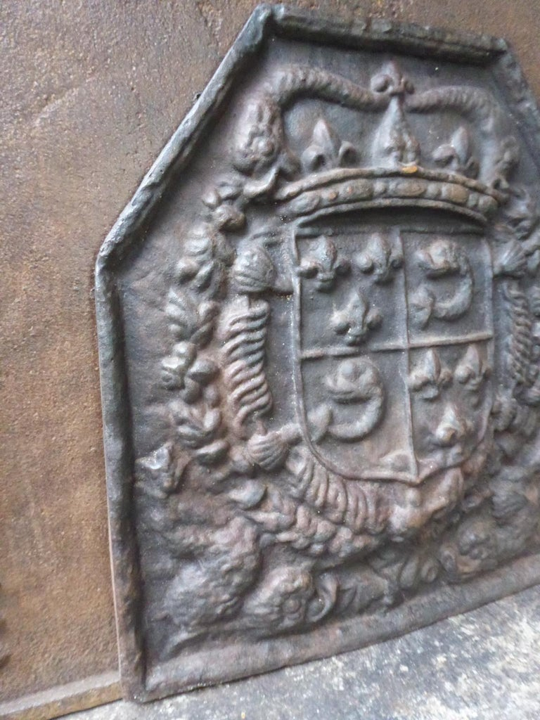 French Louis XIV Style 'Arms of France' Fireback For Sale 1