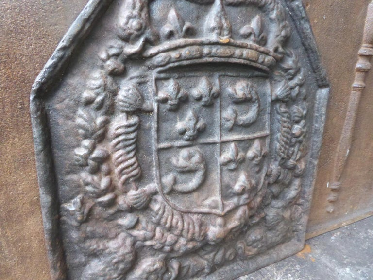 French Louis XIV Style 'Arms of France' Fireback For Sale 2