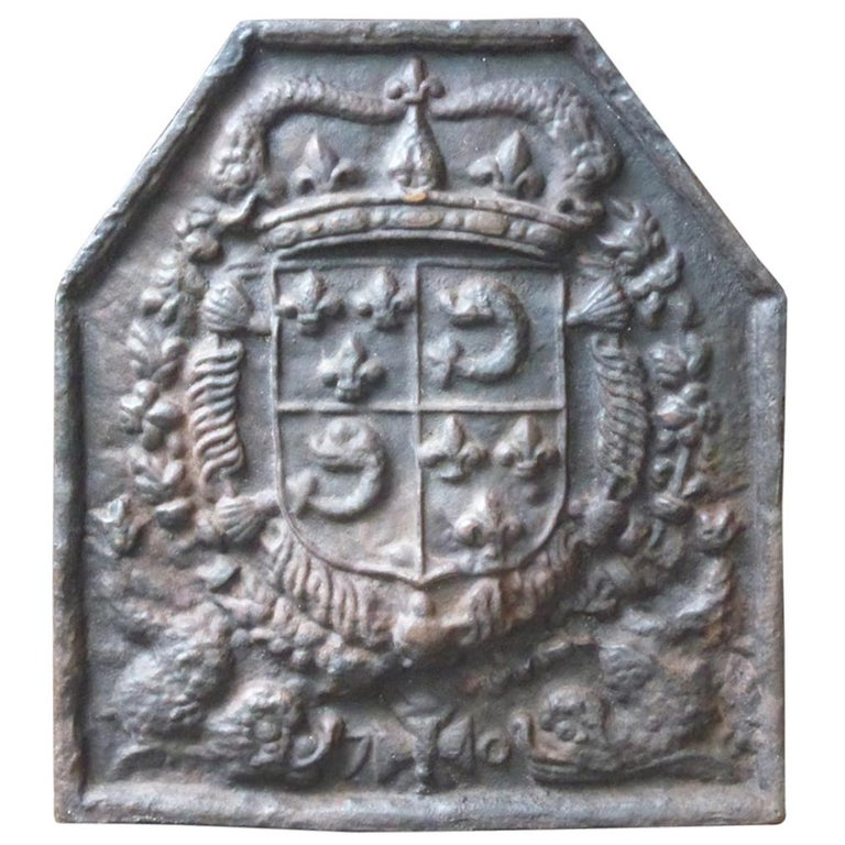 French Louis XIV Style 'Arms of France' Fireback For Sale