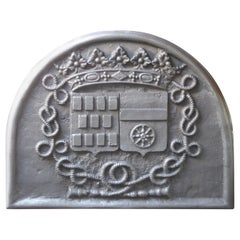 French Louis XIV Style 'Coat of Arms De Rostaing Family' Fireback