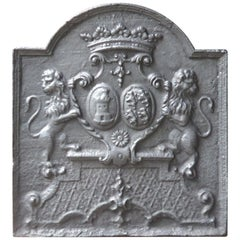 Fireback with Coat of Arms of the Des Salles - Beauvau Alliance, 18th Century