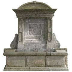 French Louis XIV Style Provence Fountain in Limestone, Riviera Coast, France