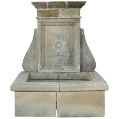 French Louis XIV Style Provence Fountain in Pure Limestone, Antique Patina