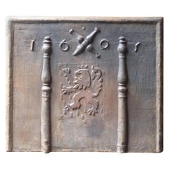 French Louis XIV Style 'Saint Andrew's Cross' Fireback
