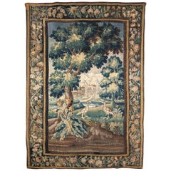 French Louis XIV Verdure Tapestry, Aubusson, 1680