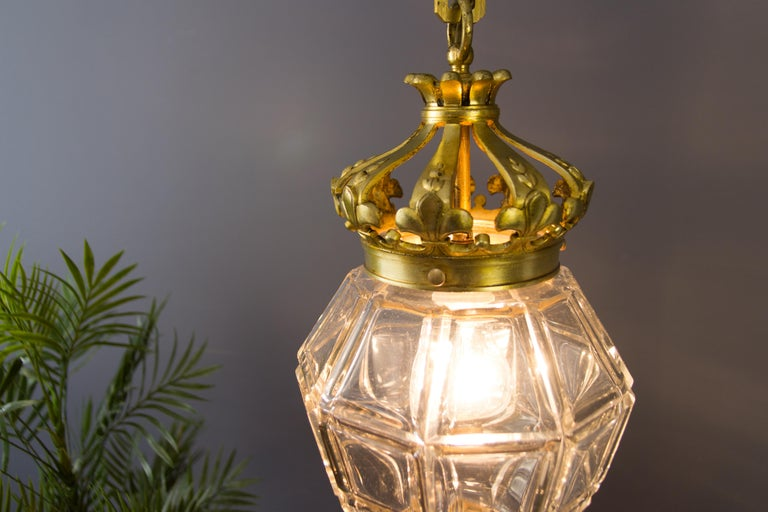"French Louis XIV ""Versailles"" Style Hanging Lantern Hall Lamp For Sale 6"