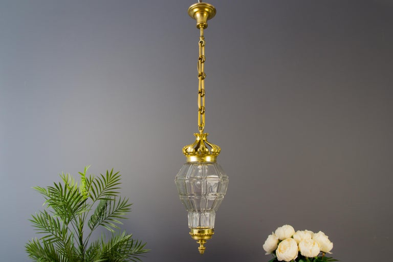 "French Louis XIV ""Versailles"" Style Hanging Lantern Hall Lamp In Good Condition For Sale In Barntrup, DE"