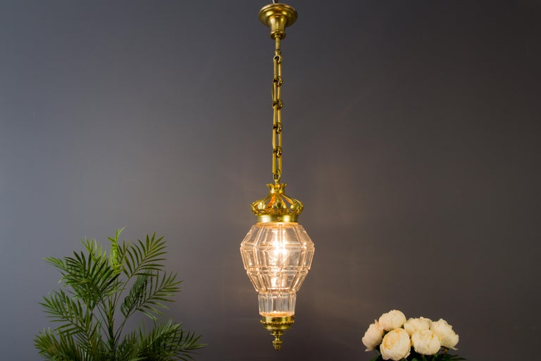 "Early 20th Century French Louis XIV ""Versailles"" Style Hanging Lantern Hall Lamp For Sale"