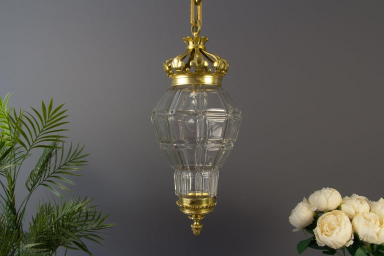 "French Louis XIV ""Versailles"" Style Hanging Lantern Hall Lamp For Sale 1"