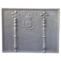 French Louis XV 'Arms of France Fireback, 18th Century