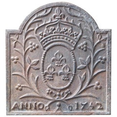 French Louis XV 'Arms of France' Fireback, 18th Century
