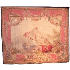 Large French, Louis XV, Beauvais Style Tapestry in Boucher Rococo Taste
