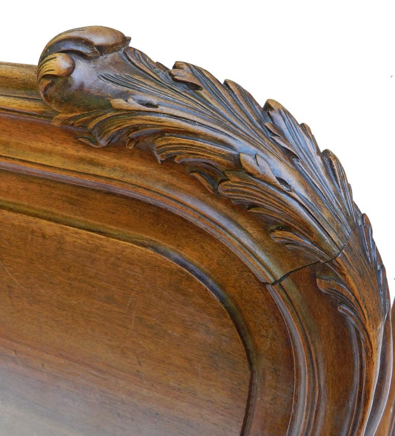 Mahogany French Louis XV Bed 19th century Rococo US Queen UK King size European King For Sale