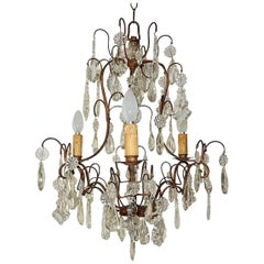 French Louis XV Crystal Chandelier, circa 1900