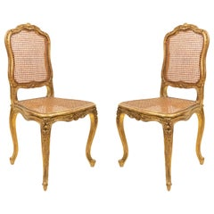 French Louis XV Gilt Side Chairs