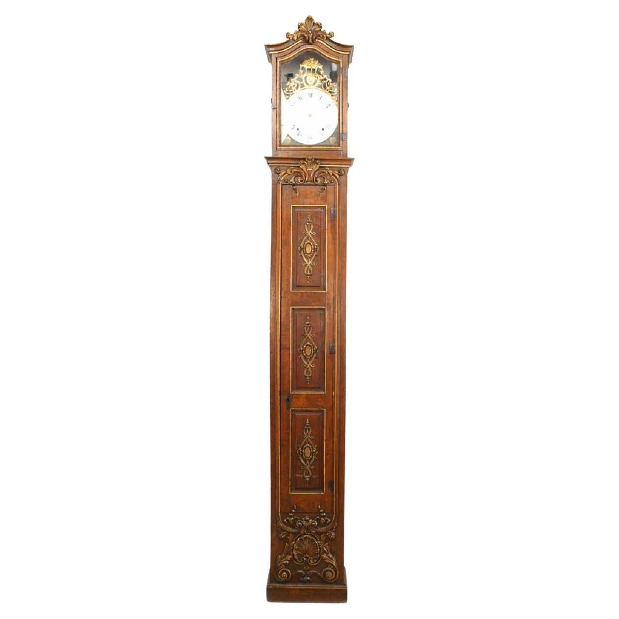 French Louis XV Grandfather Clock