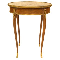 French Louis XV Kingwood Parquetry End Table