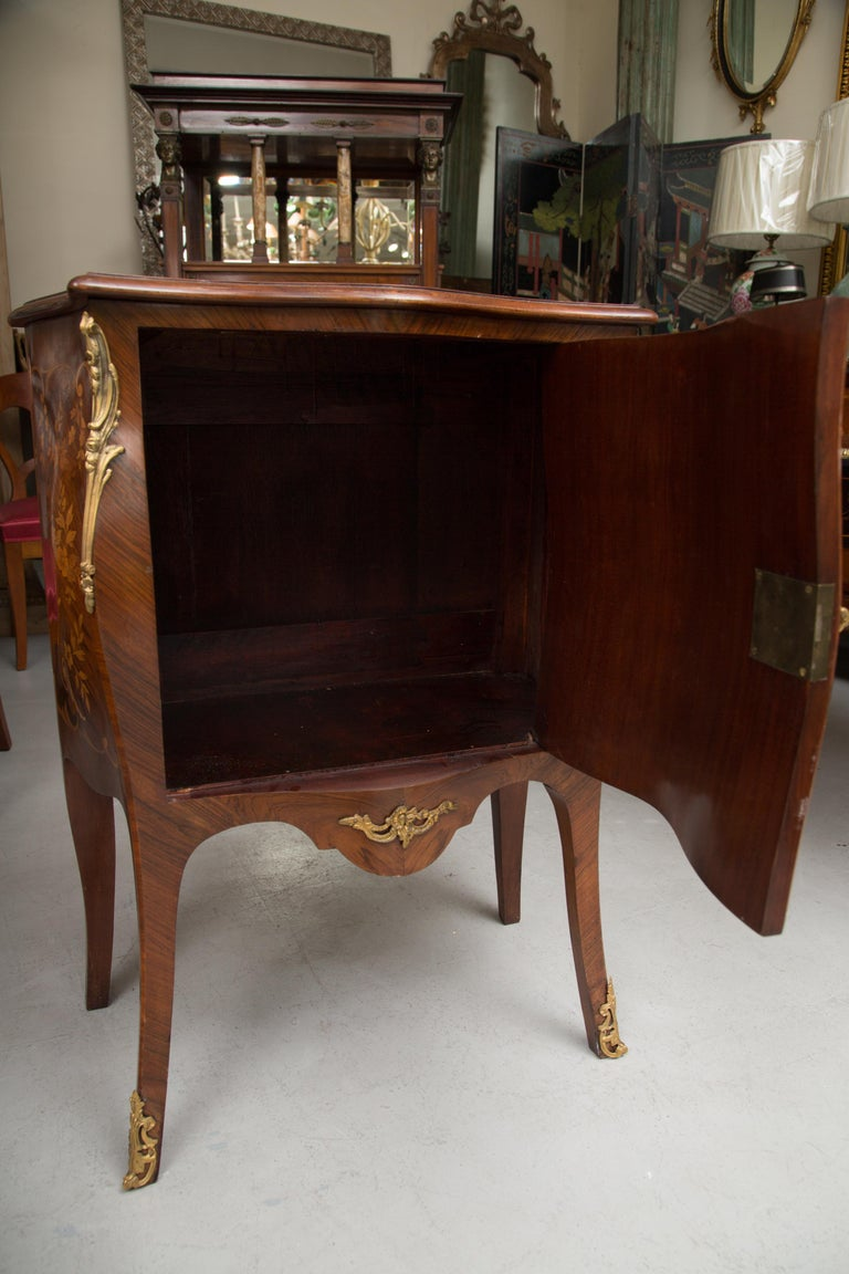 20th Century French Louis XV Marquetry Single-Door Cabinet For Sale